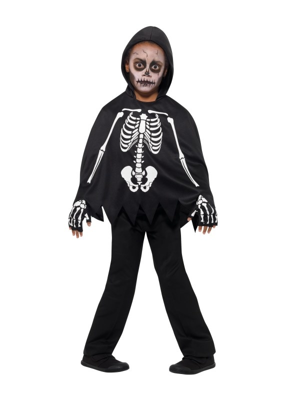 Mooi skelet kostuum Dave kinderen