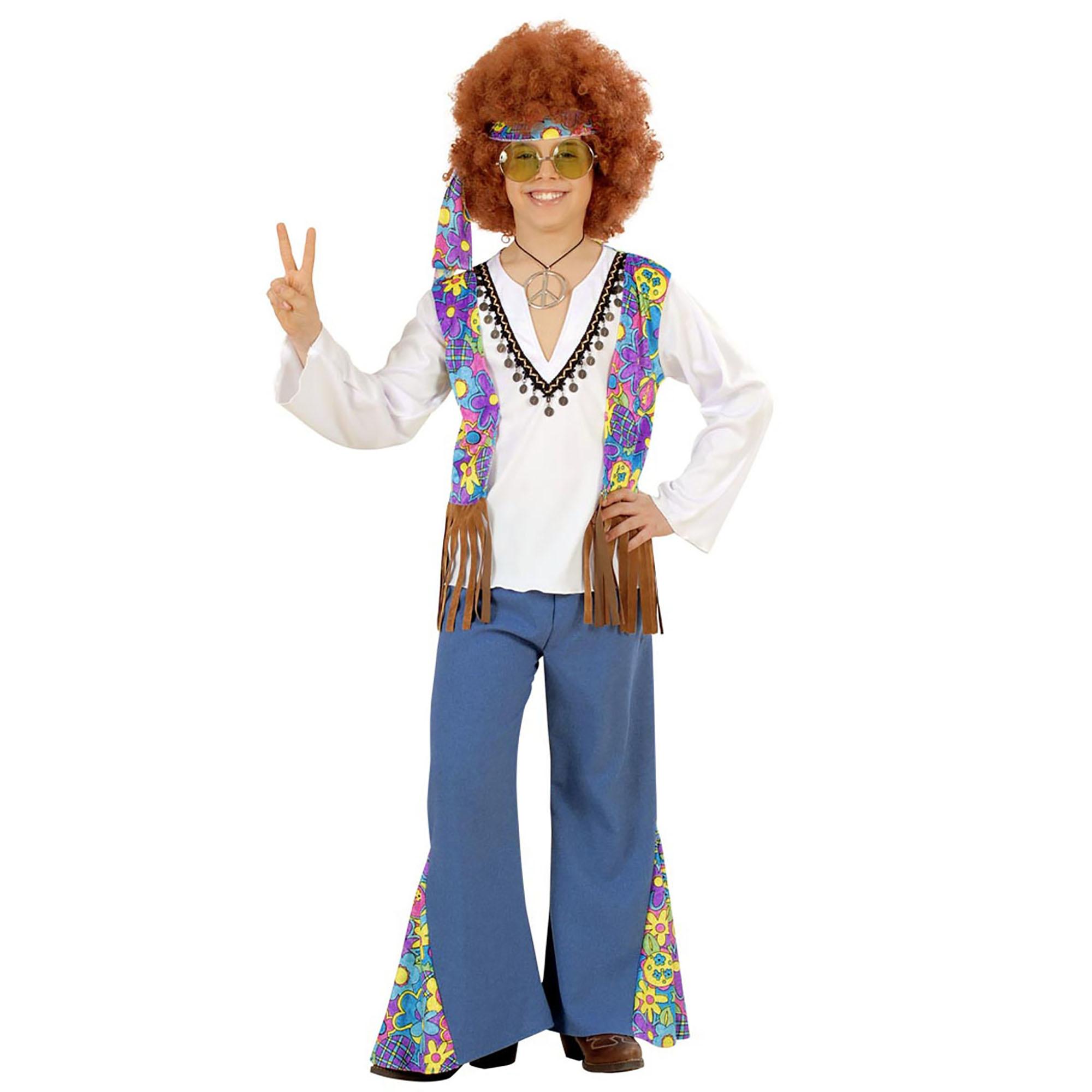 Carnavalspak kinderen: Hippie jongen Woodstock Jean
