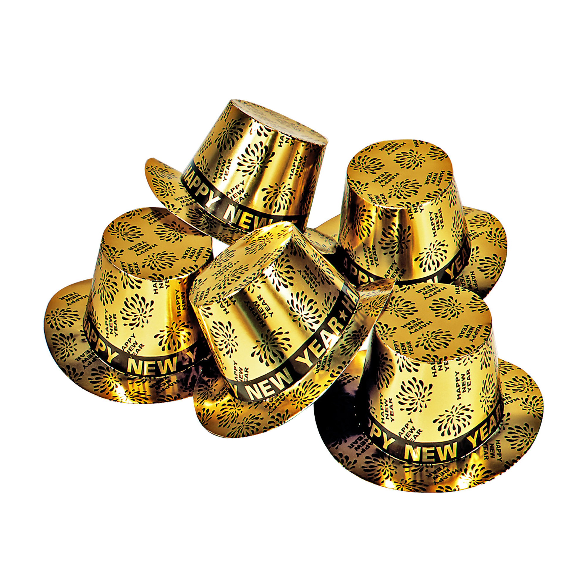 Happy New Year: Happy new year hoge hoed goud