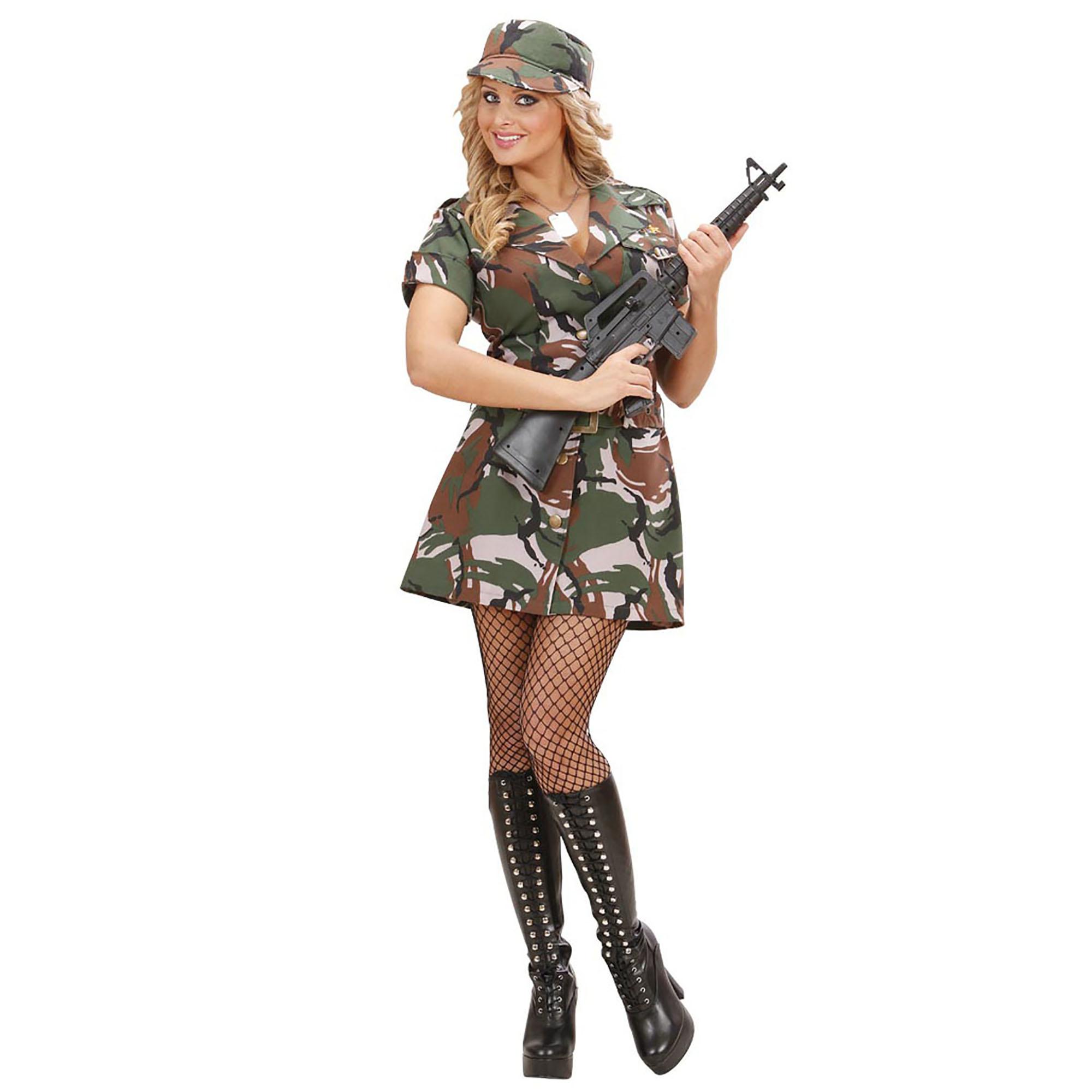 Carnavalskleding: American Army-girl jurkjes