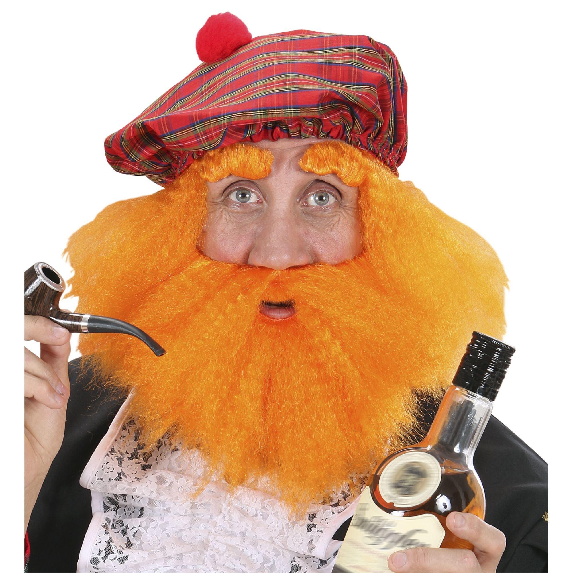 Carnavalsaccessoires: Oranje pruik voor Schotten