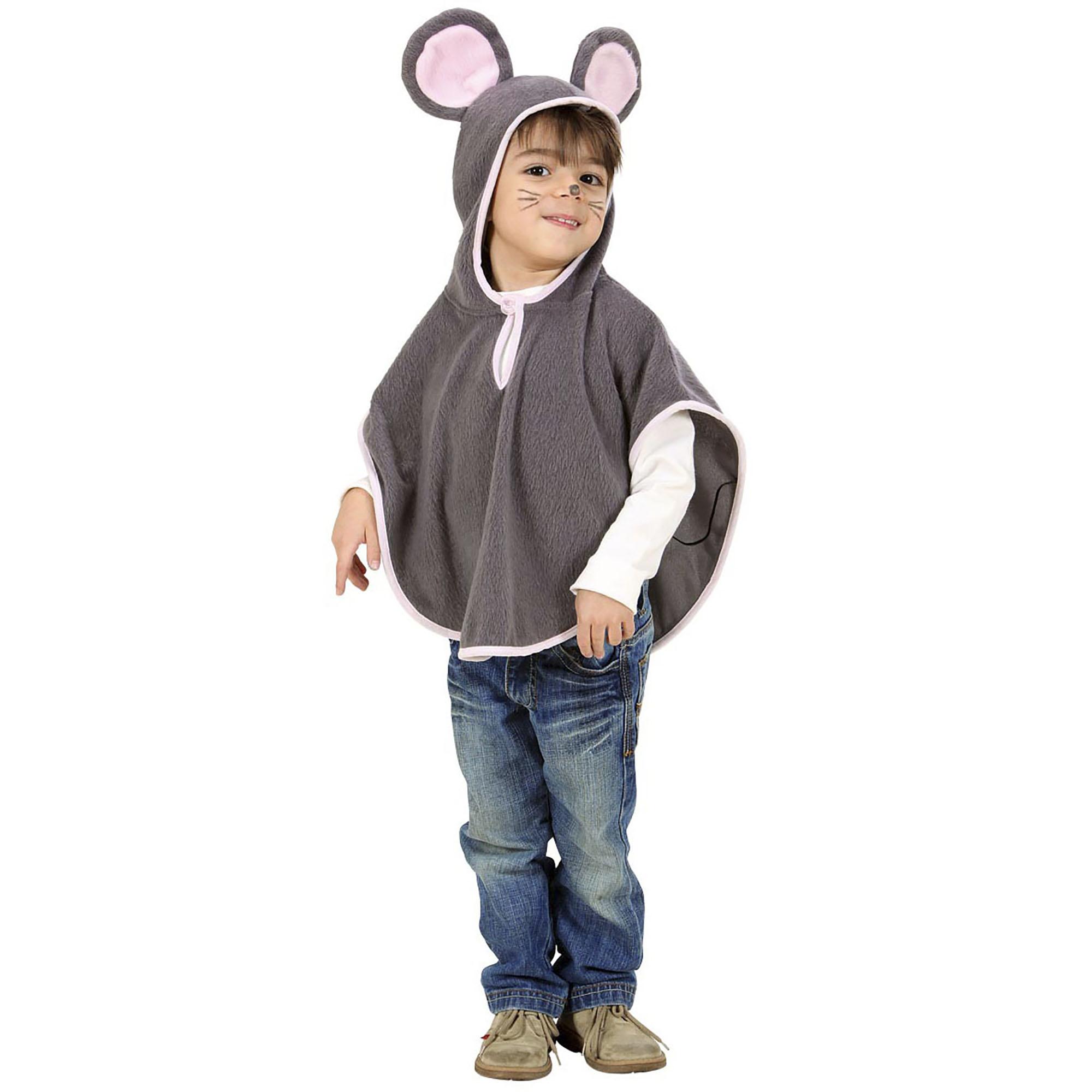 Kinderkostuum: Muizen poncho voor de kleine muis