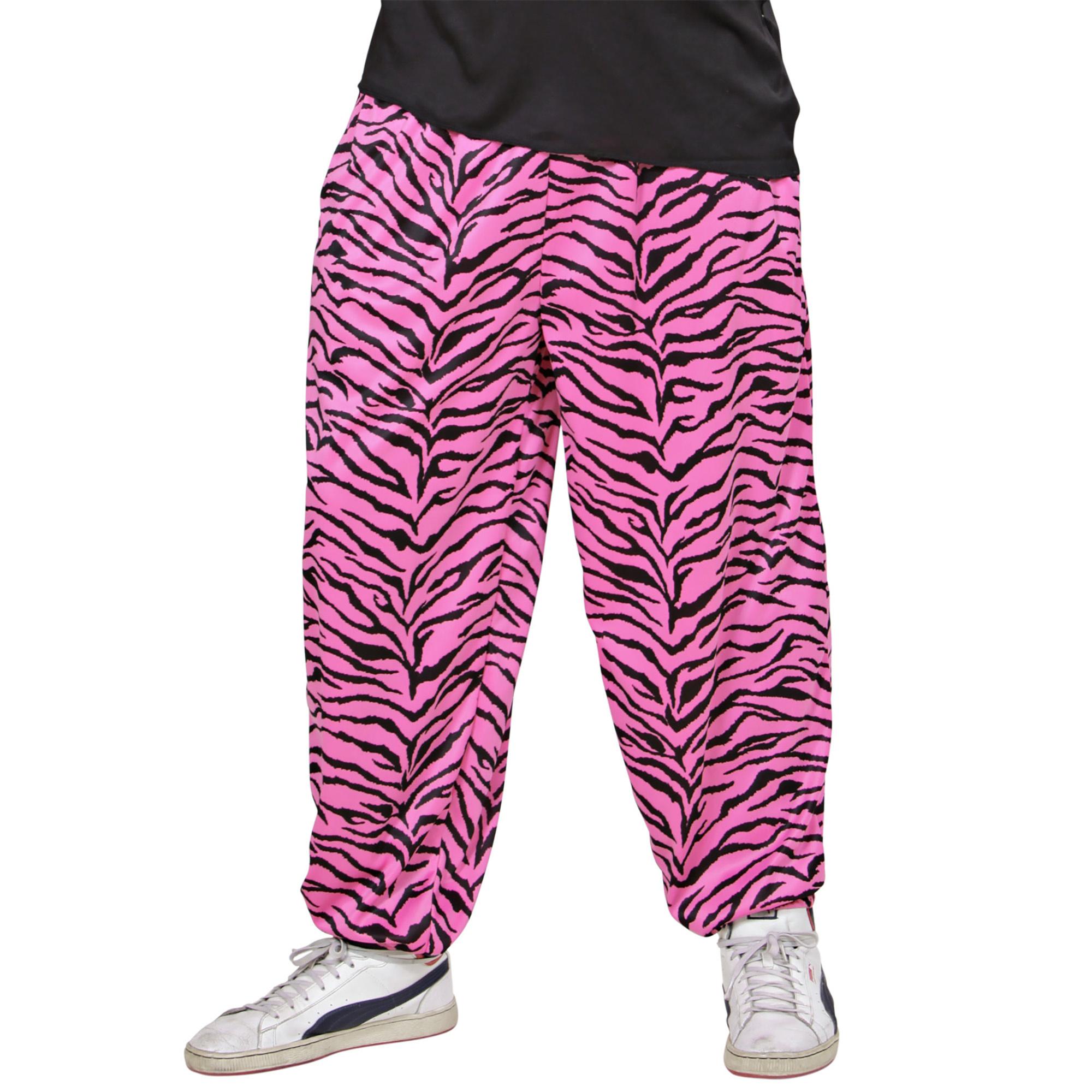 Carnavalskleding: roze zebra broek
