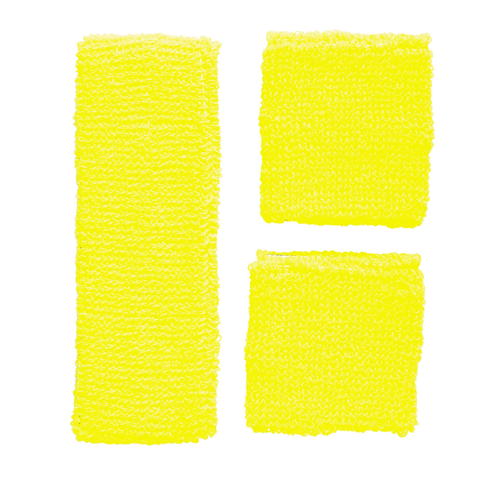 Deze setjes kanarie gele zweetbandjes zijn een voorbeeld van de vele carnavals artikelen en carnavalskleding ...