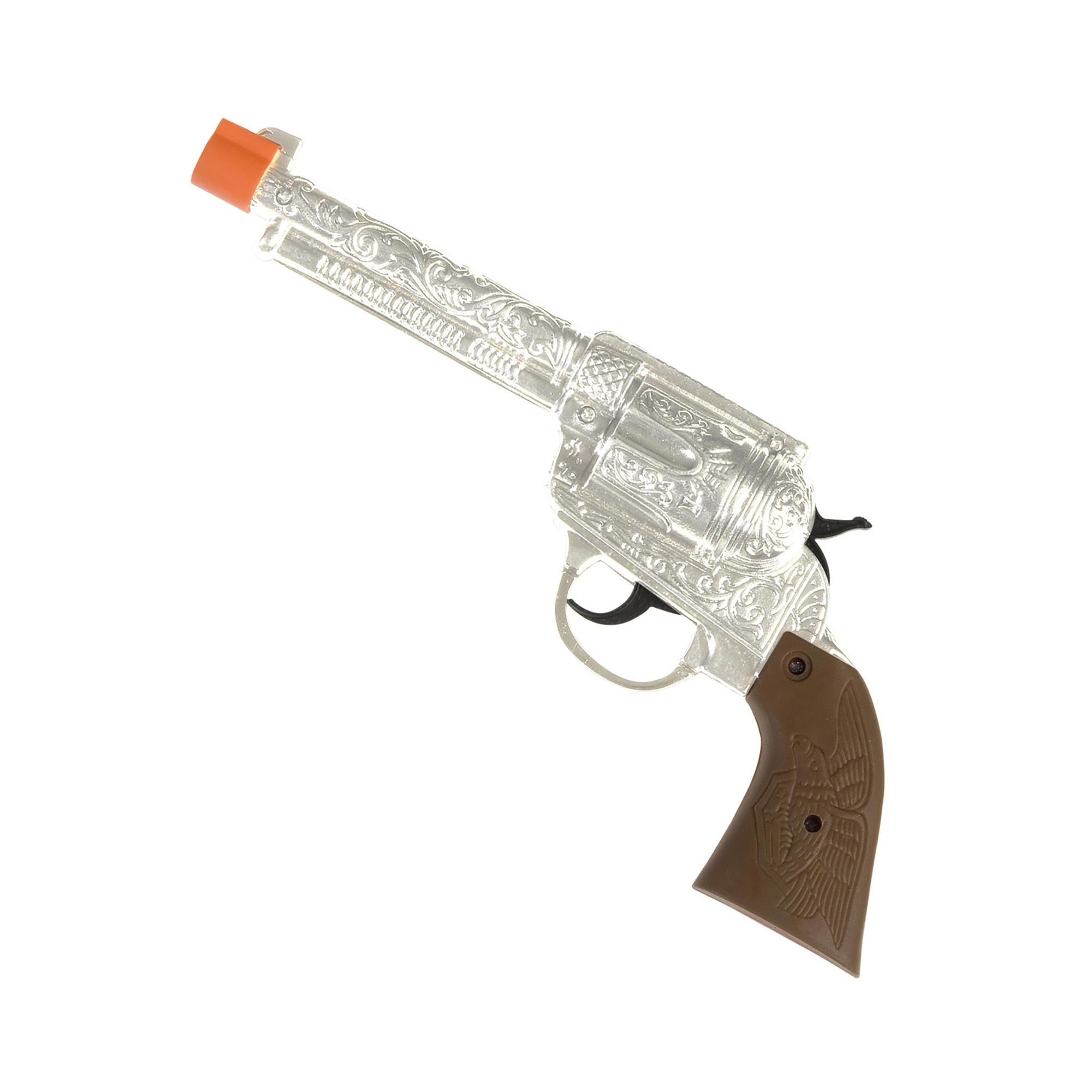 Zilveren pistool voor carnaval
