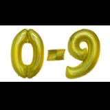 Glitter gouden cijfers