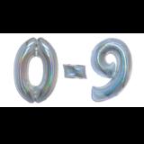 Glitter zilveren cijfers