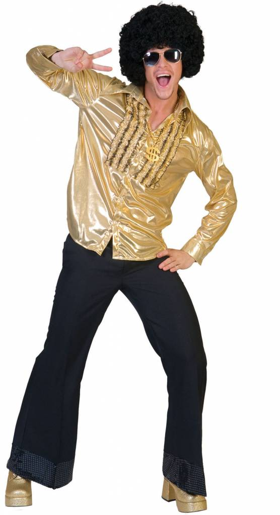 Gouden Saturday Night Shirt voor party's