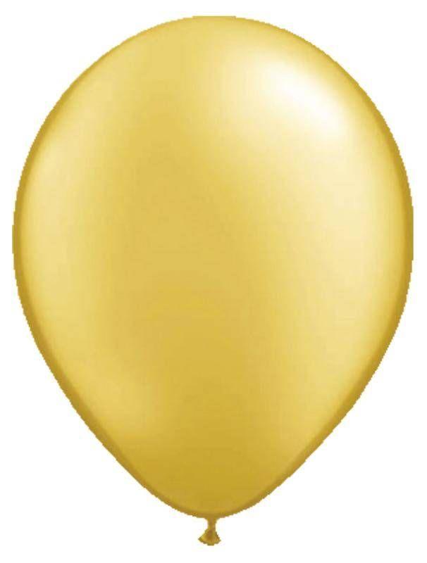 Goudkleurige ballonnen