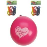 Ballonnen rood met witte hartjes getrouwd