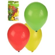 Ballonnen zak 50 stuks rood/geel/groen