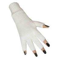 Witte vingerloze handschoenen