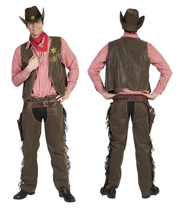Ruige cowboy verkleedset Wilco voor heren