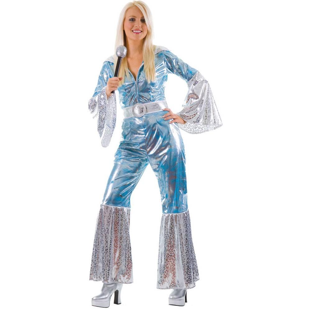 Abba jumpsuit voor dames in blauw