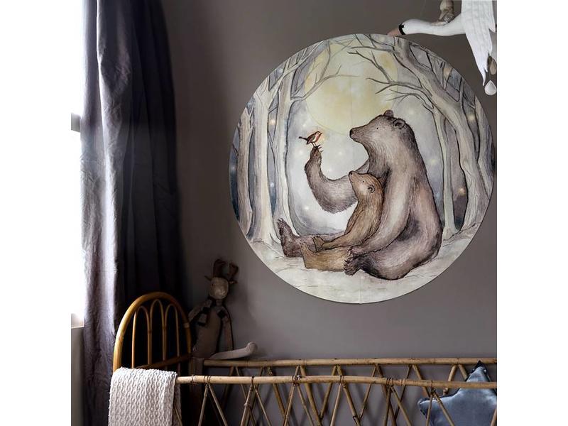 Bears and Robin Wallpaper circle mini