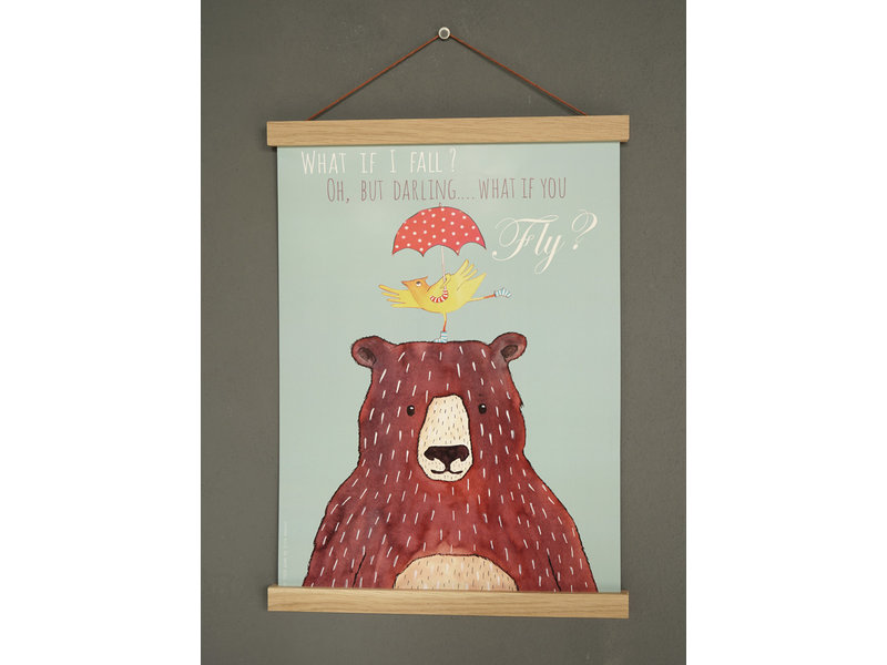 What if you fly? Bear poster