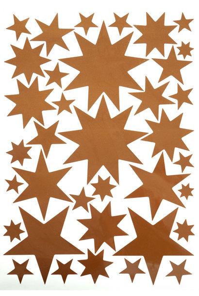 Sternensticker Kupfer