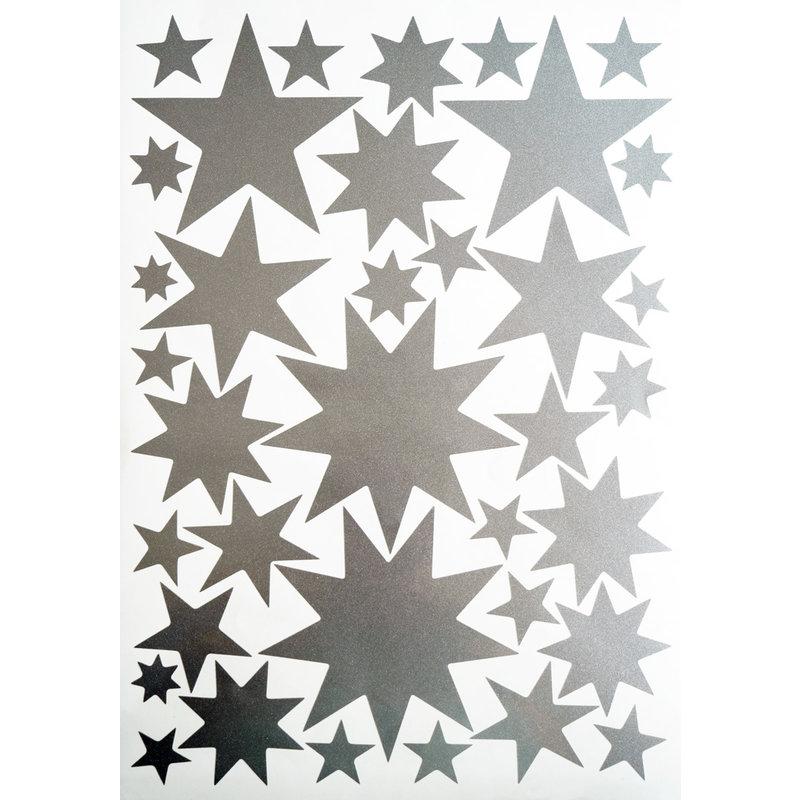 Starry Sky Stickers Silver