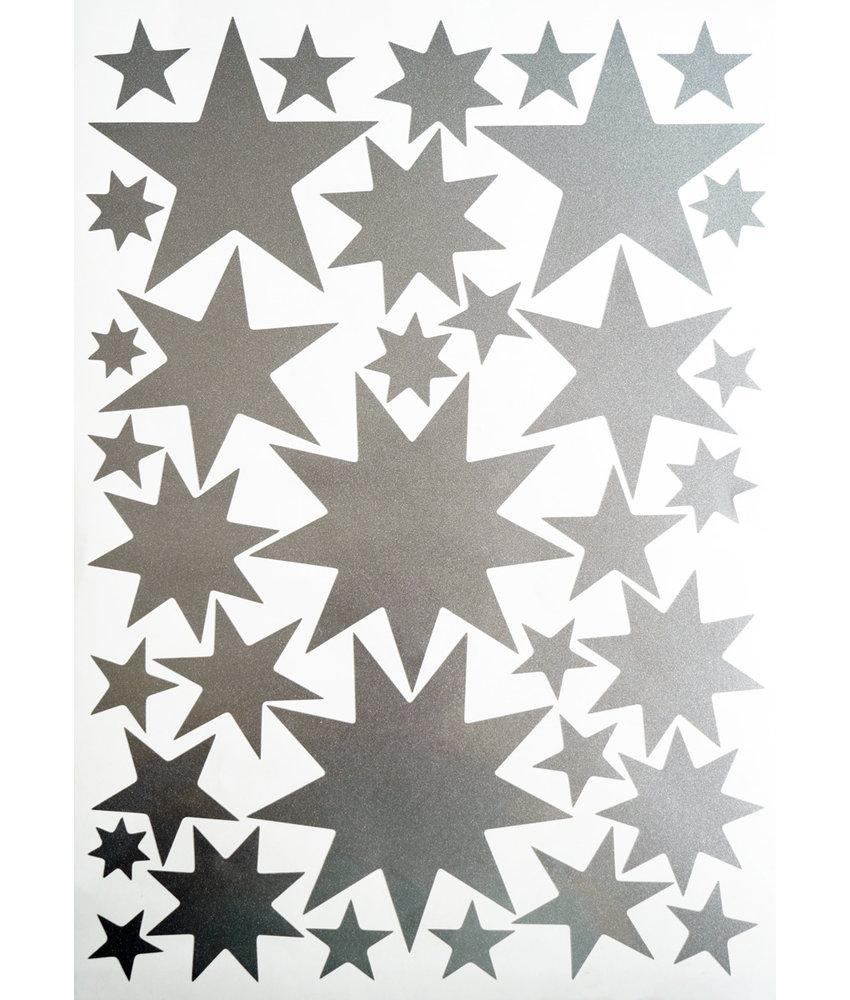 Sternensticker Silber