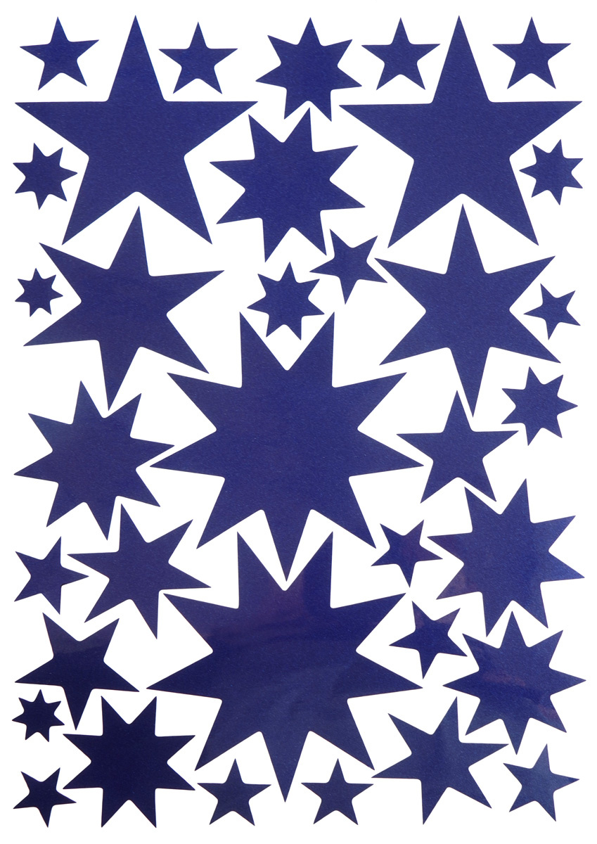 Starry Sky Stickers Midnight Blue-1