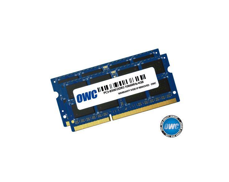 OWC OWC 8GB RAM Kit (2x4GB) Mac mini Early 2009 tot Mid 2010