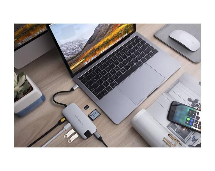 Hyper Hyper HyperDrive Slim 8-in-1 USB-C Hub (Zilver)
