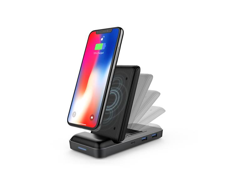 Hyper Hyper HyperDrive Wireless Charger USB-C Hub