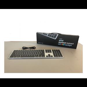 Matias Bedraad Toetsenbord met RGB Backlight (Spacegrijs) *Tweedekans*