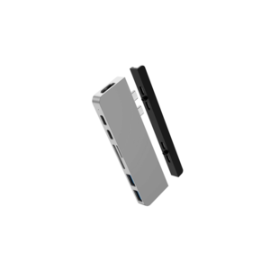 Hyper HyperDrive DUO 7-in-2 USB-C Hub (Zilver)