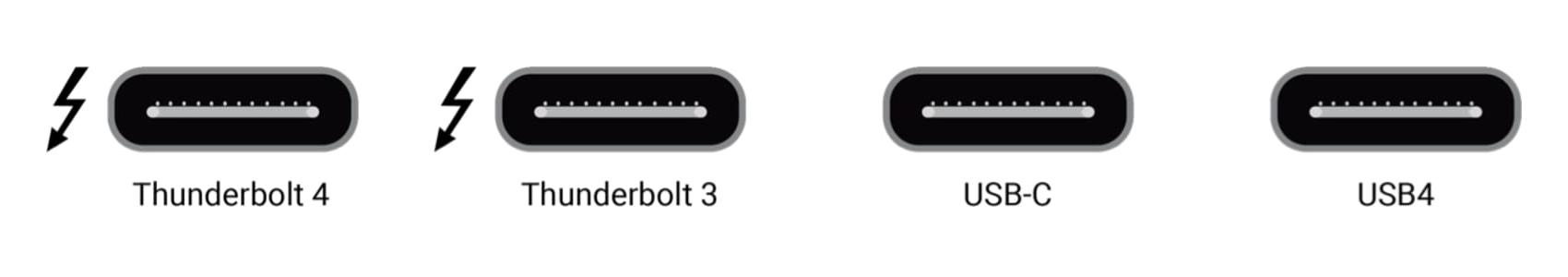Thunderbolt / USB aansluitingen