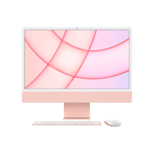 Apple iMac 24-inch M1 256GB (Roze) midden