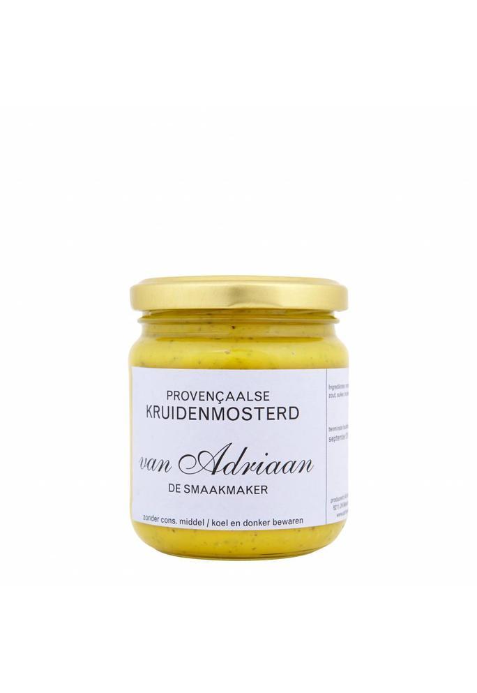 Adriaan de Smaakmaker Provencaalse kruidenmosterd 200 gram