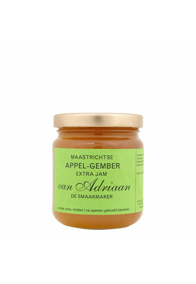 Adriaan de Smaakmaker 2-appel gember jam 225 gram