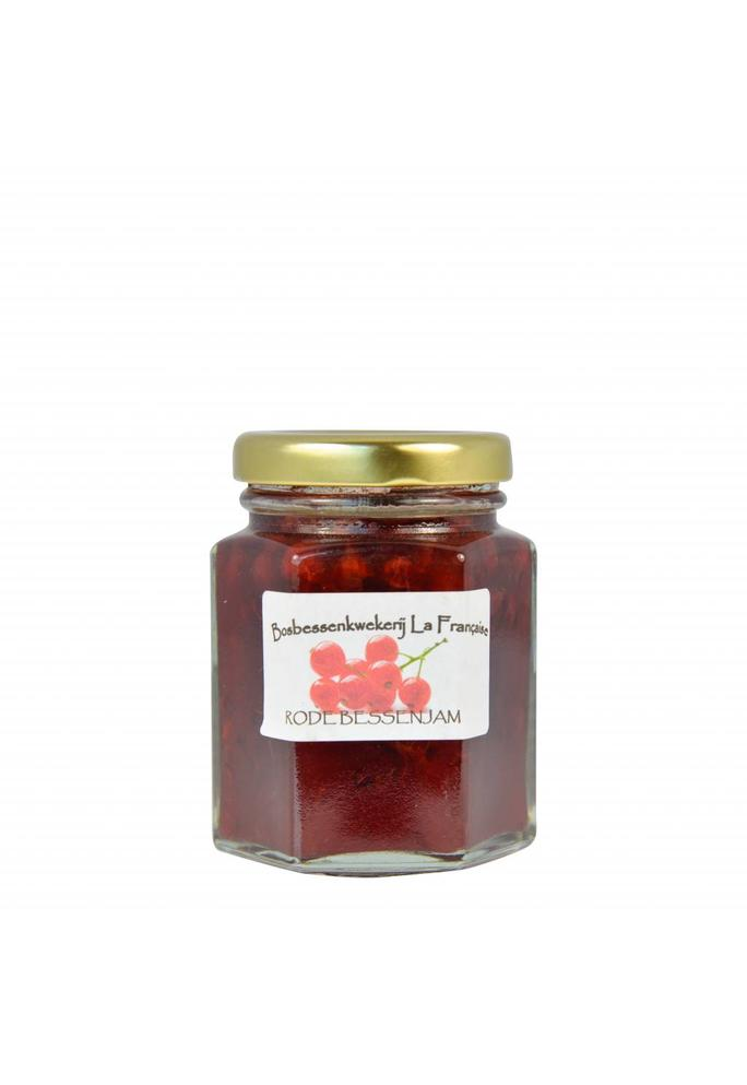 Bosbessenkwekerij La Française 2-Rode bessen jam La Française (50 gram, 135 gram of 325 gram)