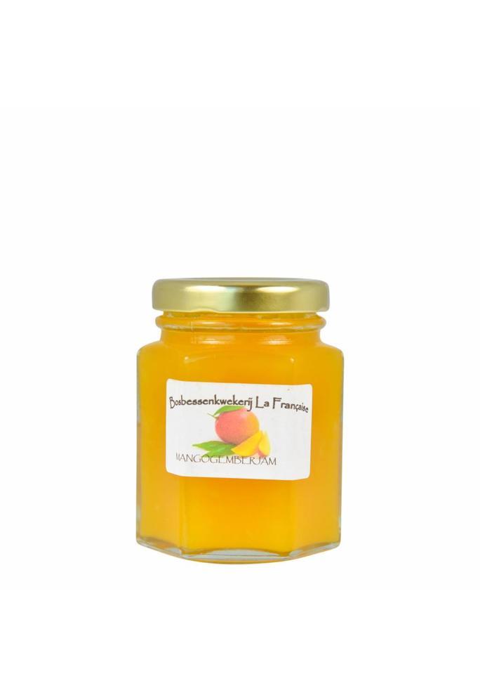 Bosbessenkwekerij La Française 2-Mango gember jam La Française (50 gram, 135 gram of 325 gram)