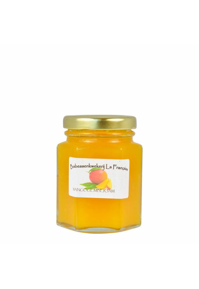 Bosbessenkwekerij La Française Mango gember jam La Française (50 gram, 135 gram of 325 gram)