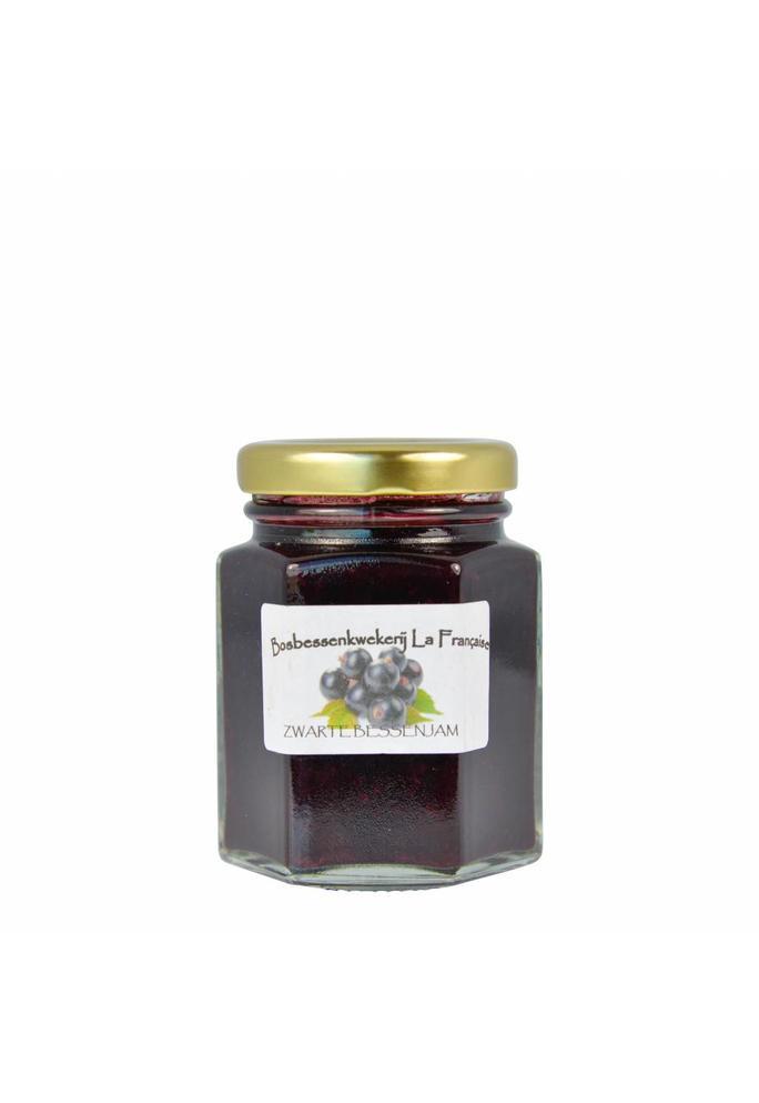 Bosbessenkwekerij La Française 2-Zwarte bessen jam La Française (50 gram, 135 gram of 325 gram)