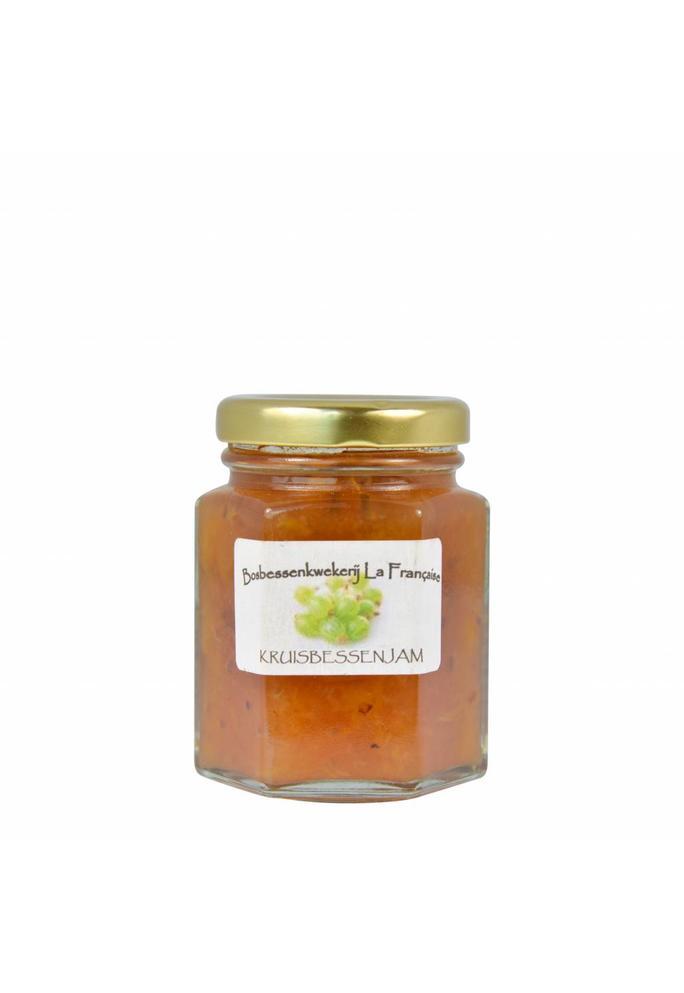 Bosbessenkwekerij La Française 2-Groene kruisbessen jam La Française (50 gram, 135 gram of 325 gram)