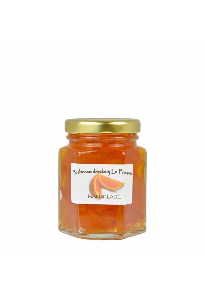 Bosbessenkwekerij La Française 2-Sinaasappel marmelade La Française (50 gram, 135 gram of 325 gram)