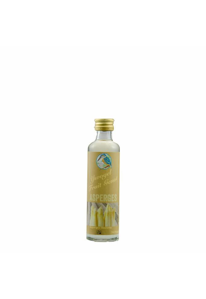 Graanbranderij De IJsvogel 2-Fruit Genot asperge likorette De IJsvogel 40 ml
