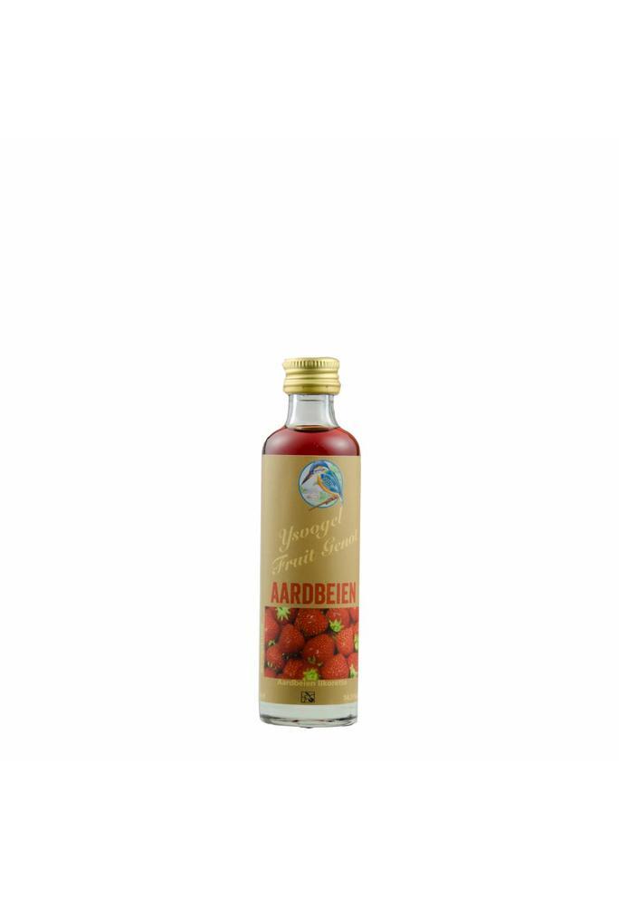 Graanbranderij De IJsvogel 2-Fruit Genot aardbeien likorette De IJsvogel 40 ml