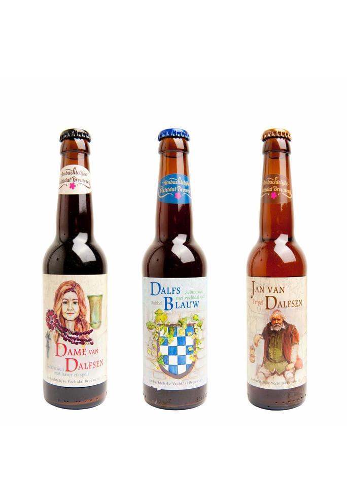 Vechtdal Brouwerij assortiment donkere bieren van de Vechtdal Brouwerij (3 x 2 flesjes)