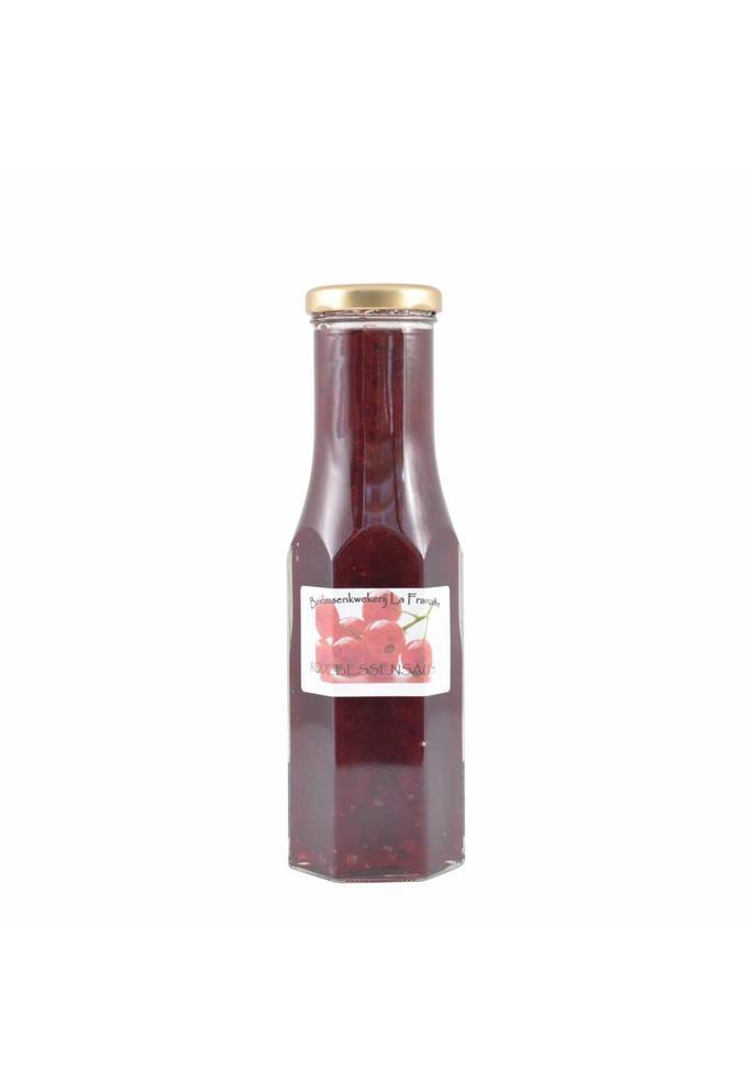 Bosbessenkwekerij La Française Rode bessensaus La Française 250 ml