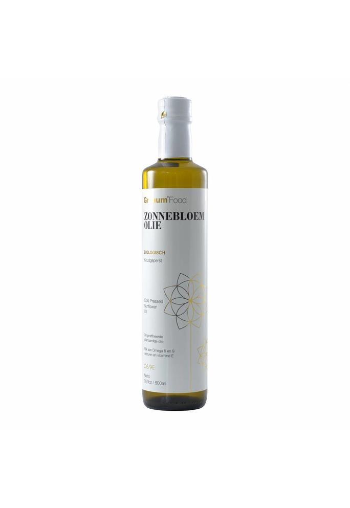 Granum 2-Servische Koudgeperste zonnebloemolie 500 ml