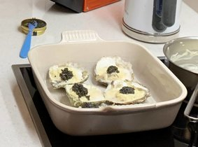 Kaviaar met Zeeuwse oesters