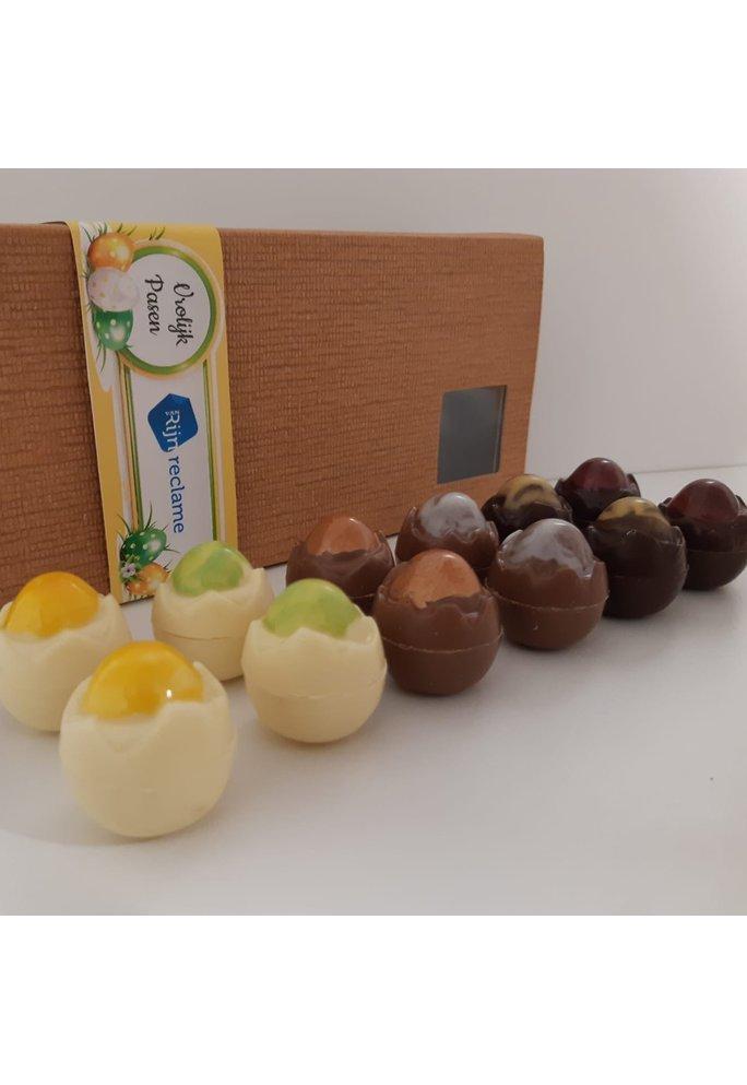 Zeut Gevulde Zeut chocolade eitjes voor Pasen met een Twents tintje