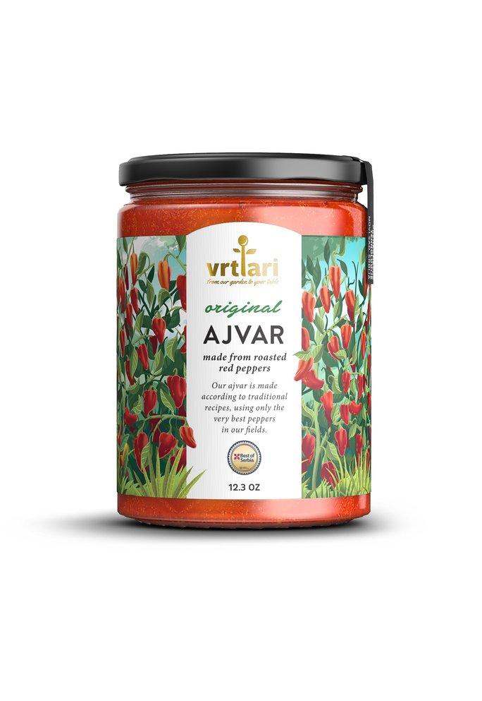 Vrtlari Servische Ajvar Original, op het vuur geroosterde paprika, 350 Gram