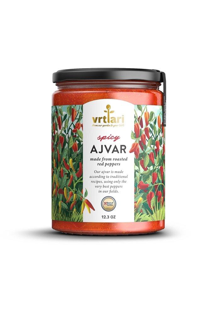 Vrtlari Servische Ajvar Spicy, 350 Gram