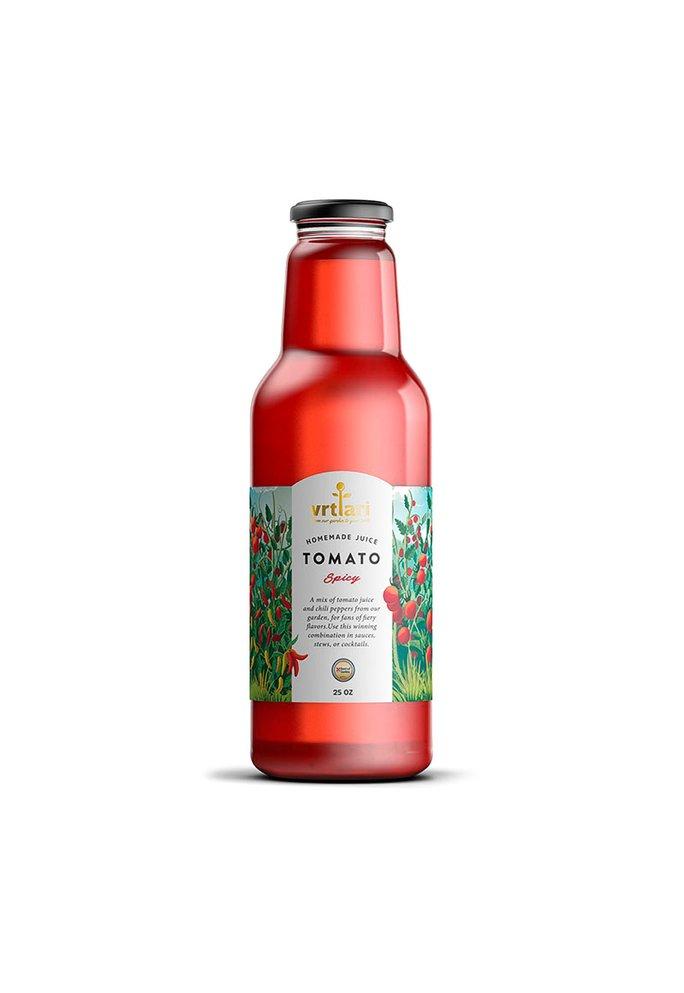 Vrtlari 2-Servische Tomatensap Spicy, 750ML