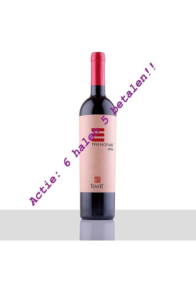 Temet Wines Servisch 6 pack Tri Morave red 2017, Alc 13,5% - Copy